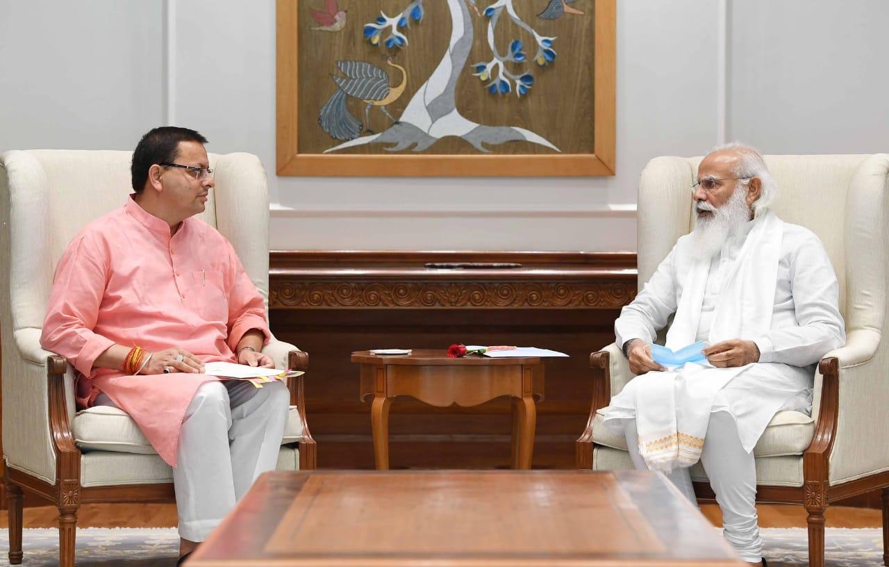 मुख्यमंत्री धामी की प्रधानमंत्री से भेंट, इन महत्वपूर्ण मुद्दों पर हुई बात