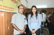 प्रेस से मिलिए, कार्यक्रम के तहत भारतीय महिला क्रिकेट टीम की सदस्य और ऑलराउंडर क्रिकेटर स्नेह राणा ने की पत्रकारों से भेंट