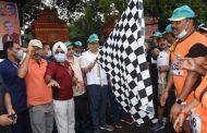 मुख्यमंत्री ने किया नीरज चोपड़ा ग्लोरी क्रास कंट्री रन को फ्लैग ऑफ, सीएम ने जॉगिंग करते हुए भी किया प्रतिभाग