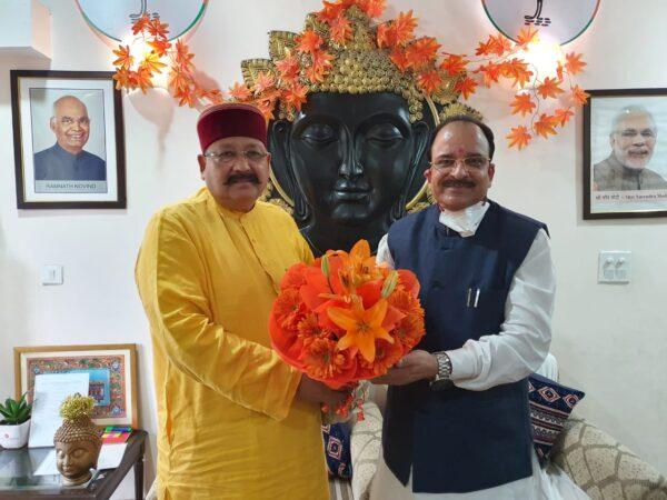 महाभारत एवं रामायण सर्किट के विकास को लेकर केंद्रीय पर्यटन राज्यमंत्री से सतपाल महाराज ने की मुलाकात