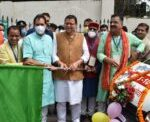 मुख्यमंत्री धामी ने स्वास्थ्य संवाद 2021 का बतौर मुख्य अतिथि किया शुभारंभ, खुशियों की सवारी का भी किया फ्लैग ऑफ