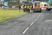 मुख्यमंत्री के निर्देश पर सिलेंडर फटने से हुए घायलों को हेली एम्बुलैंस से लाया गया कोरोनेशन अस्पताल