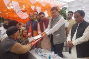 मुख्यमंत्री धामी ने धारचूला पंहुचकर आपदा से हुए नुकसान का लिया जायजा, प्रभावितों को किए चैक वितरित